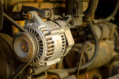 Old engine of the car Royalty Free Stock Images