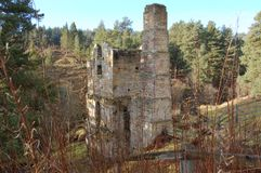 Old engine house Blanchland lead mine Stock Photography