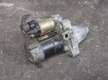 Old engine starter Royalty Free Stock Photos