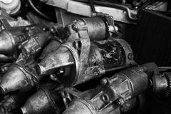 Old engine starter Royalty Free Stock Photography