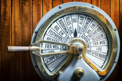 Old engine telegraph Royalty Free Stock Image