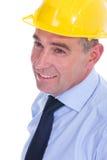 Old engineer closeup Royalty Free Stock Image