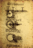 Old Engineering drawing Stock Images
