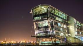 The old England Ferry Terminal. In Hamburg Altona at night Stock Photos