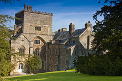 Old english abbey building. Buckland abbey set in formal gardens on the edge of dartmoor Royalty Free Stock Images