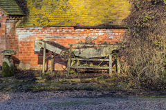 Old English Agricultural Grading Machine. Old farm machine possibly used for sorting/grading vegetables, fruit or seeds stock photography