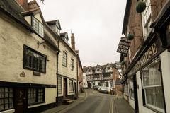 Old English Architecture on Cartway, Bridgnorth Stock Photos