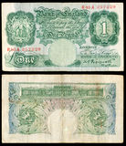 Old English bank note. High resolution scan of an old Bank of England pound note stock images