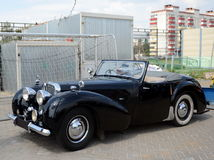 Old English car Triumph 1800 Roadster. MOSCOW, RUSSIA - JUNE 27, 2016:Old English car Triumph 1800 Roadster Royalty Free Stock Photos