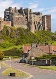 Old English Castle Bamburgh Royalty Free Stock Photos