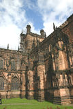 Old English Cathedral. Chester Cathedral royalty free stock photo