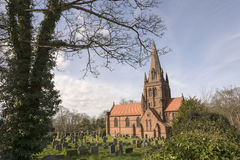 Old English Church Wirral North West Royalty Free Stock Images