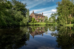 Old English Farm And Pond Royalty Free Stock Photos