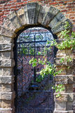 Old english garden gate Royalty Free Stock Images