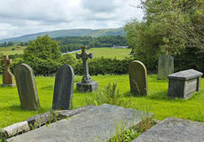 An Old English Graveyard on a Hill Stock Photo