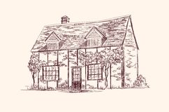 Old English house stock illustration