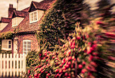 Old English house. Traditional victorian old English home in a small town Stock Images