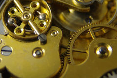 Old English pocket fob watch movement Royalty Free Stock Images