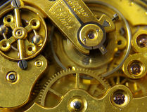 Old English pocket fob watch movement Stock Photos