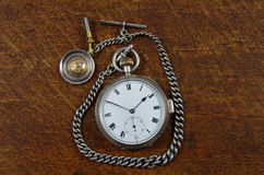 Old English Pocket Watch and Chain Royalty Free Stock Image