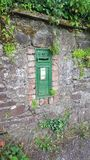 Old English post box in Ireland stock photo