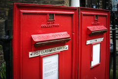 Old English post box Stock Photo