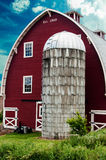 Old English red barn Stock Photos