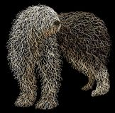 Old english sheepdog. Illustration of an old english sheepdog made from layers of curved lines Royalty Free Stock Photography