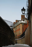 Old English Street. In winter, Oxford, England Stock Photos