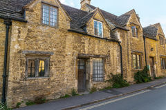 Old English town and beautiful historic buildings, old street, h Royalty Free Stock Photos