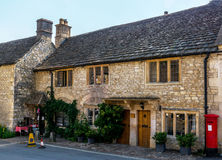 Old English town and beautiful historic buildings, old street, h Stock Photo