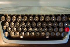Old English typewriter. Old typewriter with English alphabets Stock Images