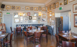 Old English victorian public house interior. Early morning settings with no people Royalty Free Stock Photo