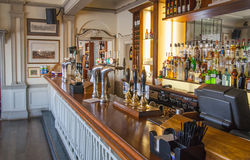 Old English victorian public house interior. Royalty Free Stock Photography