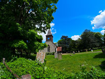 Old english village church Royalty Free Stock Photography