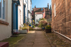 Old English Village Terraced Cottages Stock Photography