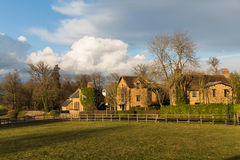 Old English Village in the Winter sun Stock Images