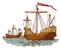 Old english war ship Royalty Free Stock Images