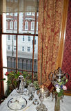 Old English Window. View from old window, London, England Royalty Free Stock Images