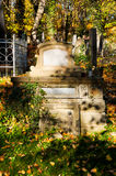 An old entombment on a cemetery Stock Photos