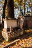 An old entombment on a cemetery Stock Photo