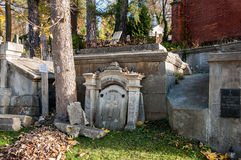 An old entombment on a cemetery Royalty Free Stock Photography