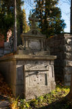 An old entombment on a cemetery Royalty Free Stock Image