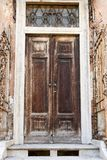 Old entrance door characteristic of old building Royalty Free Stock Photo