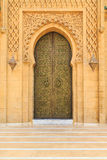 Old entrance door  at the Royal palace in Morocco Fes. Ancient entrance door  at the Royal palace in Morocco Fes Stock Photos