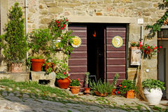 Old entrance door of Tuscany stock photography