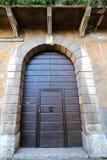 Old entrance door in Verona, Italy Stock Images