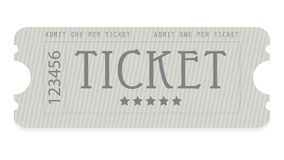 Old entrance ticket Royalty Free Stock Photo
