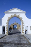 Old entrance to the Caleta beach in Cadiz Stock Images