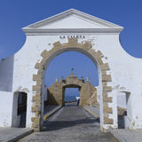 Old entrance to the Caleta beach in Cadiz Stock Image